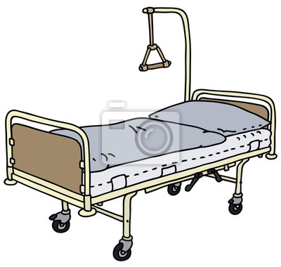 plakat ł 243 żka szpitalne na wymiar rysunek wektor lekarz