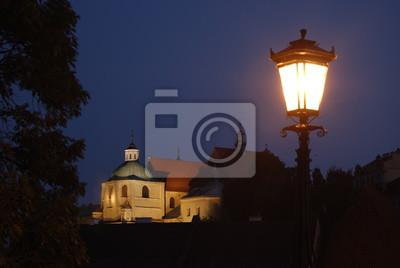 Lublin Stare Miasto Nocą Plakaty Redro
