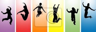 Plakat Ludzi skaczących