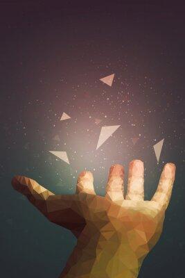 Plakat Ludzie są potężniejsi, niż sądzą, twoja dłoń może leczyć lub sprawić, by przedmiot latał w powietrzu