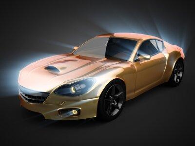 Plakat luksusowy samochód sportowy brandless