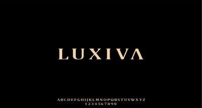 Plakat luxiva, the luxury type elegant font and glamour alphabet vector set