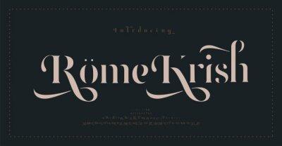 Plakat Luxury classic alphabet letters font and number. Typography elegant wedding lettering serif fonts decorative vintage retro concept. vector illustration