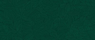 Plakat Luxury Nature green background vector. Floral pattern, Tropical plant line arts, Vector illustration.