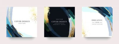 Plakat Luxury Social media stories and post template vector set.