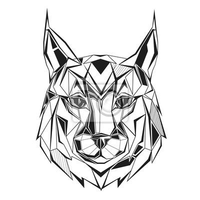 Lynx stylizowany trójkątny trójkąt
