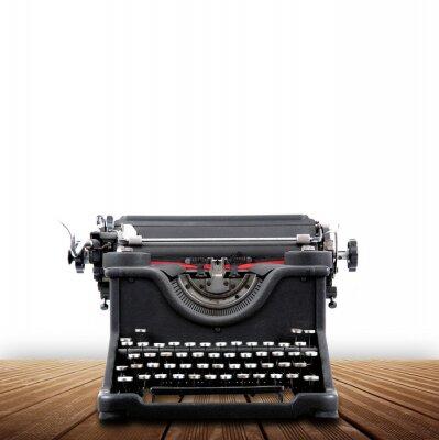 Plakat macchina da scrivere rocznika