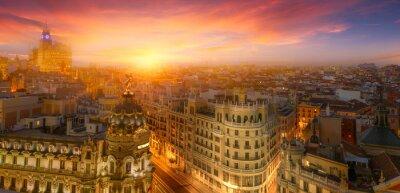 Plakat Madrid, sunset
