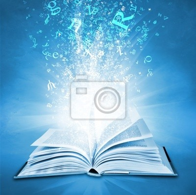 Plakat magiczne książki