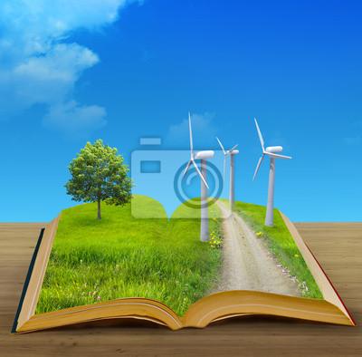 Plakat Magiczne książki i eco concept