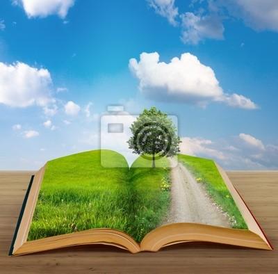 Plakat Magiczne książki z krajobrazu