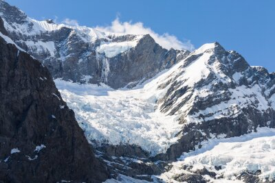 Plakat Majestatyczny widok na lodowiec Rob Roy