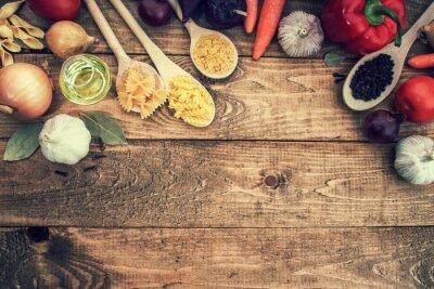 Plakat Makaronu i warzyw