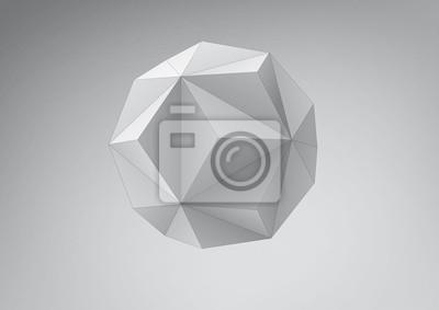 Mały triambic icosahedron do projektowania graficznego