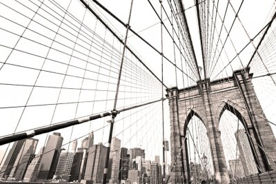 Plakat Manhattan Bridge, Nowy Jork. USA.