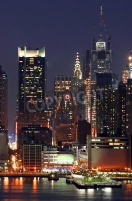 Plakat Manhattan Mid-town Skyline at Night