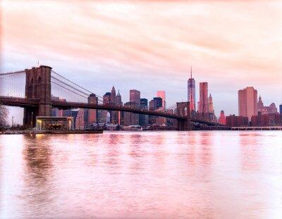 Plakat Manhattan, Nowy Jork. USA.