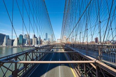 Plakat Manhattan widok z Brooklyn Bridge