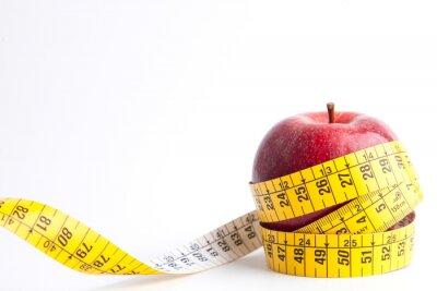 Plakat Manzana con cinta sobre fondo blanco (de Salud y concepto dieta)
