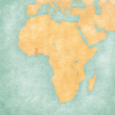 Plakat Mapa Afryki - Ghana