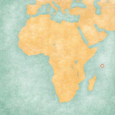 Plakat Mapa Afryki - Seszele