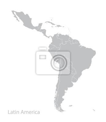 Plakat Mapa Ameryki Łacińskiej.