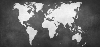 Plakat Mapa na tle ziemi