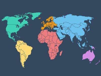 Plakat Mapa świata ilustracji, Grafika wektorowa