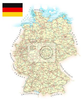 Mapa zawiera topograficznych kontury i nazwy, kraju, miasta, ziemi obiekty wodne, drogi, koleje.