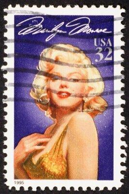 Plakat Marilyn Monroe on american postage stamp