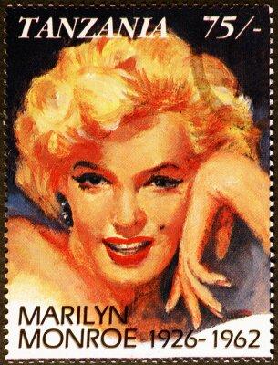 Plakat Marilyn Monroe portrait on tanzanian postage stamp