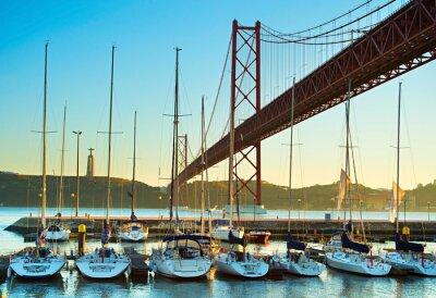 Plakat Marina w Lizbonie, Portugalia