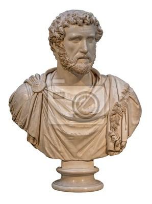 Plakat Marmurowe popiersie cesarza rzymskiego Antoninusa Piusa