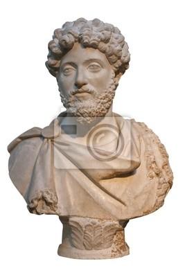 Plakat Marmurowe popiersie cesarza rzymskiego Marka Aureliusza