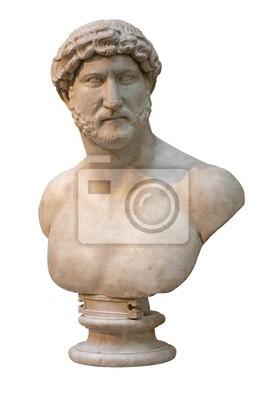 Plakat Marmurowe popiersie rzymskiego cesarza