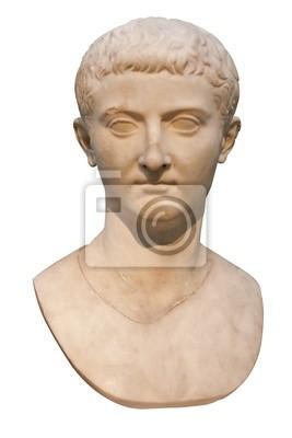 Plakat Marmurowe popiersie rzymskiego cesarza Tyberiusza