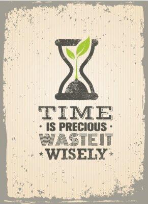 Plakat Marnować go mądrze. Motywacja Cytat twórczy. Wektor Typografia Poster Concept