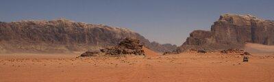 Plakat Mars krajobraz pustyni Wadi Rum Valley w Jordanii