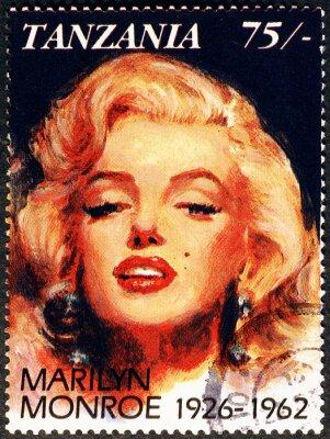 Plakat Marylin Monroe portrait on postage stamp of Tanzania