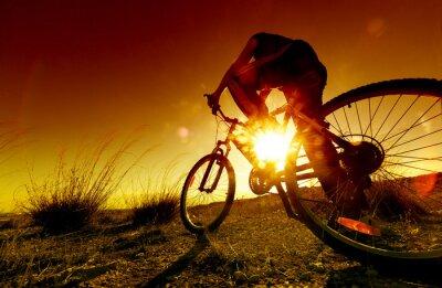 Plakat Marzycielski słońca i zdrowe life.Fields i rower