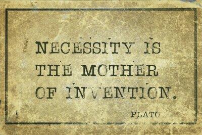 Plakat matką wynalazku Platona