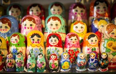 Plakat Matrioszki w Moskwie sklepu
