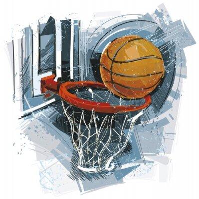 Plakat Mecz koszykówki