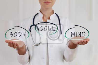 Plakat Medycyna alternatywna i holistyczne zasady opieki zdrowotnej