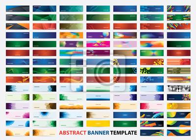 Plakat Mega collection of 105 colorful banner template. Abstract web banner design.  Header, landing page web design elements.
