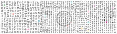 Plakat mega set of 800 hand lettering inscriptions  motivation and inspiration positive quotes