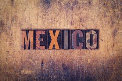 Plakat Meksyk Koncepcja drewniane prasą Rodzaj