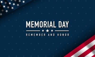 Plakat Memorial Day Background Design. Vector Illustration.