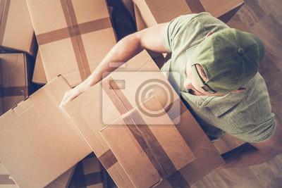 Plakat Men Carrying Moving Box