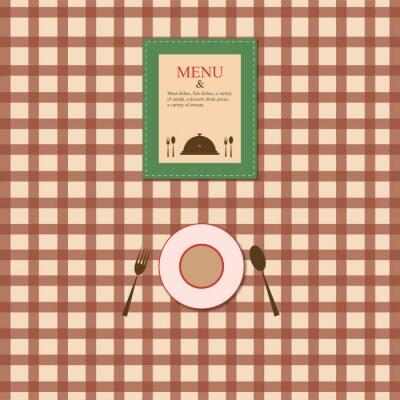 Plakat menu